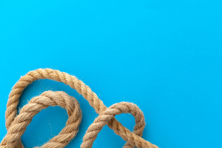 Ship ropes with knot Stock Photo