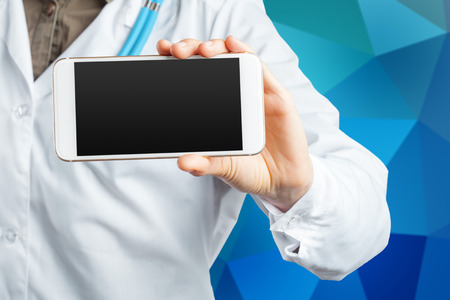 blank screen: computer tablet in the hands of doctor