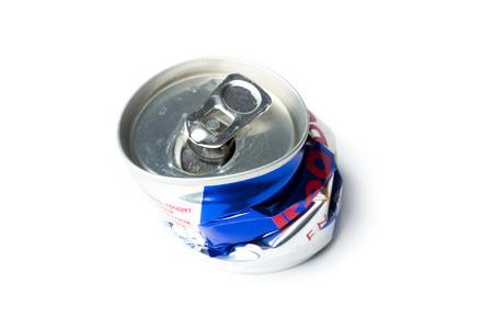 aluminum: Crumpled aluminum can
