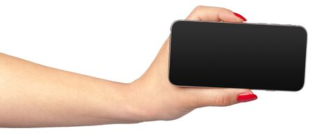 personal digital assistant: Smart Phone on Hand Isolated