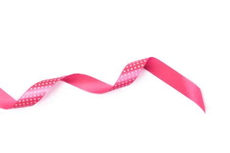 Mix Pink ribbon on a white background