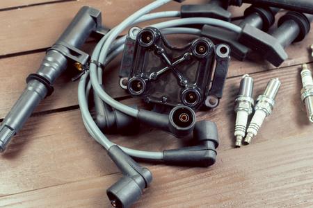 air cleaner: Various car parts Foto de archivo
