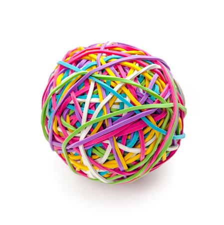 Rubber band ball 版權商用圖片 - 78651337