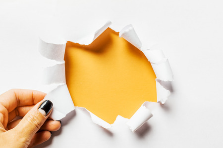 torn edge: Hole in the paper with torn sides