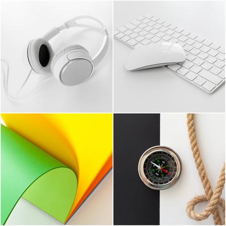 keyboard: Office desk of business workplace Stock Photo