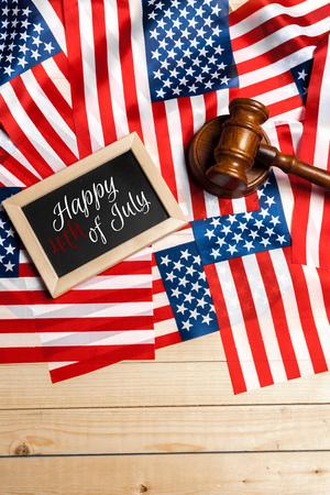 judicial proceeding: Happy Fourth of July USA Flag