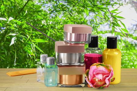 Cosmetische producten Stockfoto