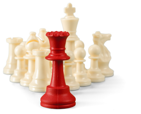 Chess figure isolated on the white background Stock Photo