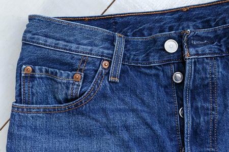 Studio Shot Jeans, Clothing, Denim Stock Photo