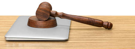 bidding: wooden gavel