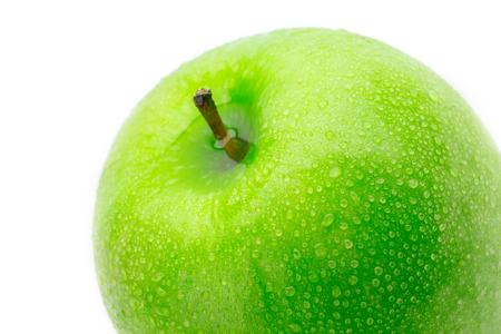 cleaned: Perfect Fresh Green Apple Isolated on White Background