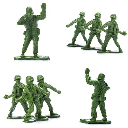 Verzameling van traditionele speelgoed soldaten