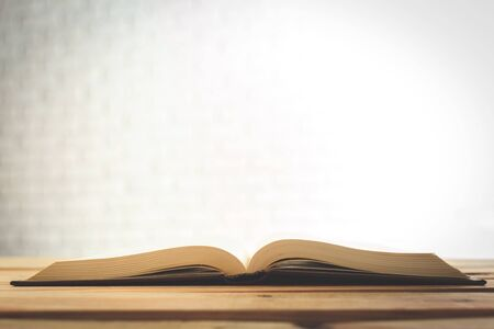 consult: Close up on open book pages