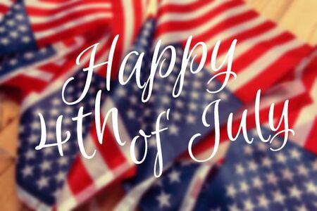 Happy Fourth of July USA Flag
