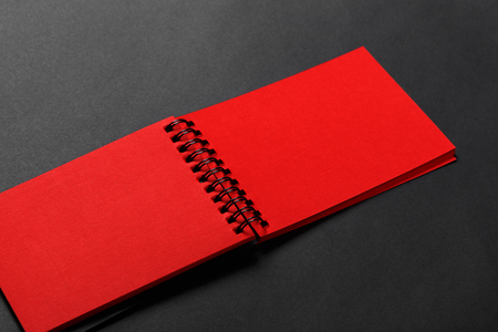 Diary of red color Stock Photo