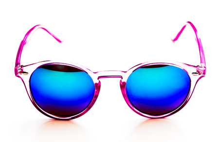 Pink unglasses isolated on white