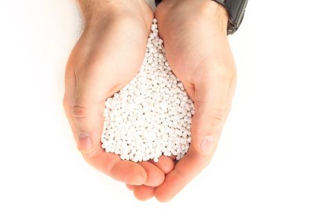 white polymer resin