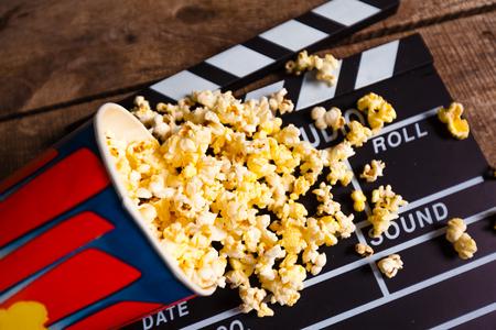 popcorn box with clapper board