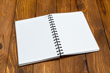 sheet: notepad on office wooden table