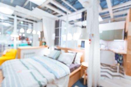 family sofa: Blurred modern interior background Stock Photo