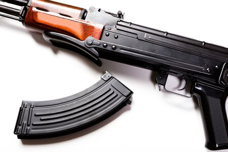 Kalashnikov machine gun Stock Photo