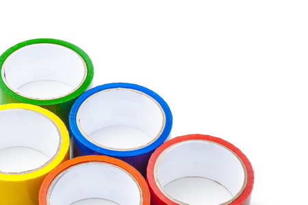 colored tape in large rolls Imagens