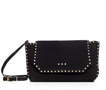 leather texture: Leather female handbag isolated on white Stock Photo