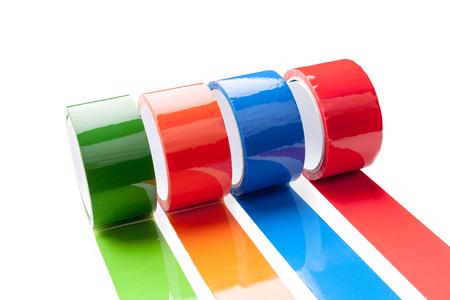 colored tape in large rolls Standard-Bild