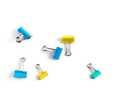 Clip for document or paper clip attachment Stock Photo