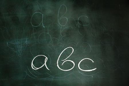 mathematics: close up of math formulas on a blackboard