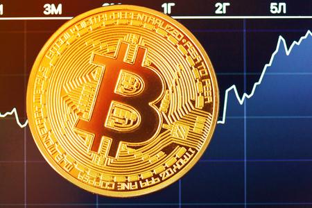 bitcoin crypto currency diagram Standard-Bild