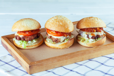 Juicy beef burgers