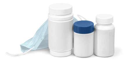 Medication isolated on white Stock Photo