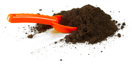 Soil or dirt crop isolated on white background Stock Photo