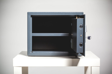 storage: Security metal safe with empty space inside