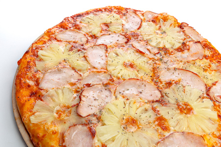 italian pizza over white Stock Photo