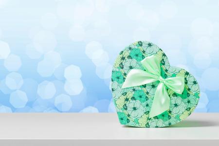 gift box on white table