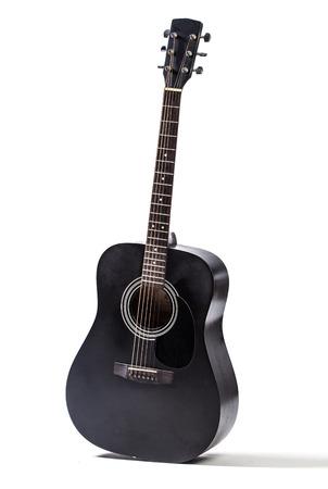 Black acoustic guitar