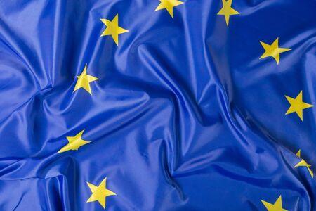 EU-vlag van de Europese Unie Stockfoto