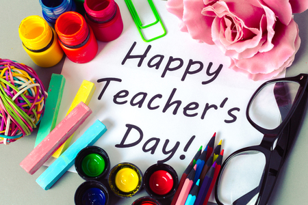Teachers day holiday. copy space Stock Photo