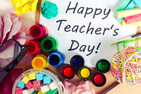 Teacher's day holiday. copy space Stock Photo - 86150058