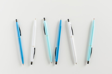 pens isolated on white background Фото со стока