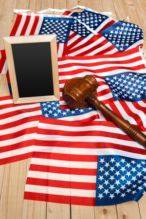 Gavel and USA flag