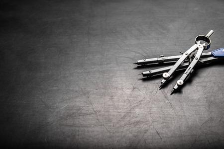 compass on a black background Reklamní fotografie