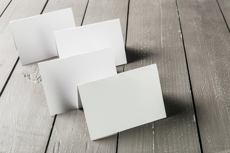 businesscard: Business cards blank mockup Stock Photo