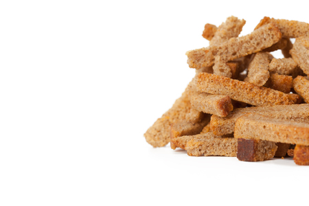 crumbs of bread croutons Stock Photo