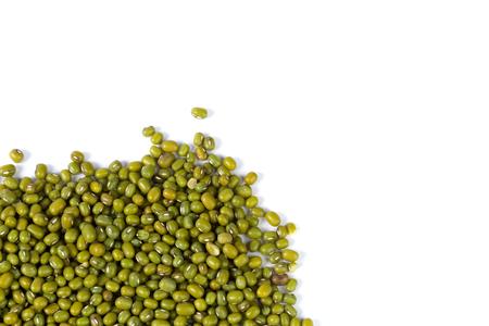 Mung beans isolated on white background Stock Photo