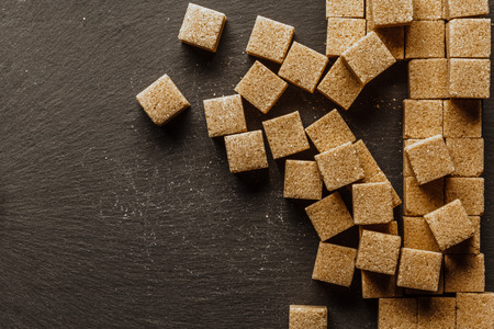 background of sugar cubes Stock Photo
