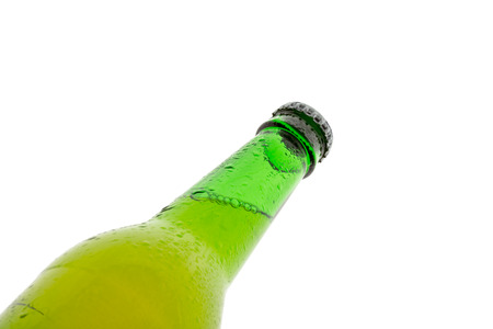 bottle of beer on white background