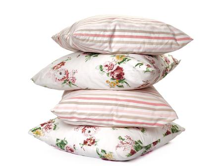 white fabric texture: pillows on white background